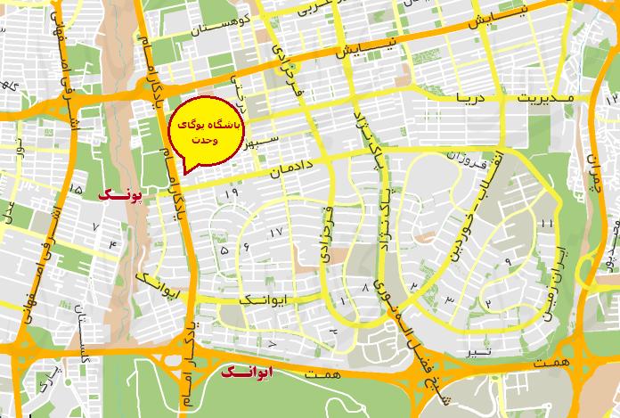 موقعیت مکانی دادمان تهران و پشتیبانی لوله بازکنی پارس کمک