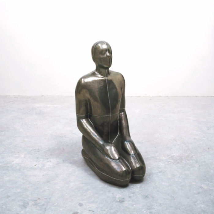 AIR I, 1994 Lead, plaster and air 105 x 70 x 49 cm