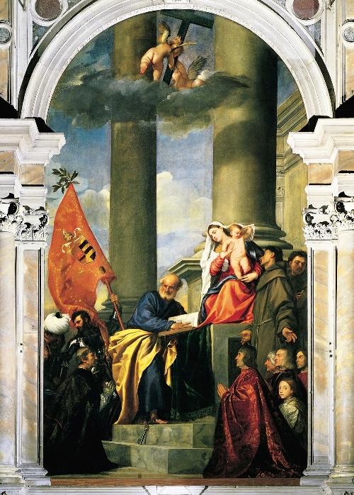 «مریم مقدس و اعضای خانواده پزارو» - تیسین