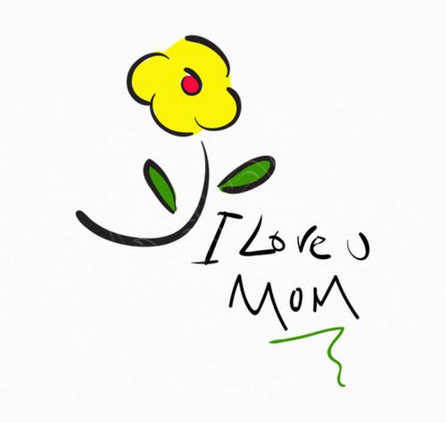 زیباترین عکس نوشته i love you mom برای روز مادر
