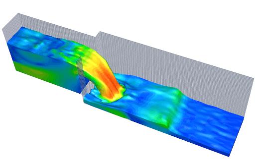 جریان آب و مایع در مخزن و کانال را می توانیم مدلسازی کنیم