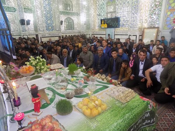 گزارش تصویری از مراسم سال تحویل در صحن آستان مقدس امامزاده سید جلال الدین نوق رفسنجان