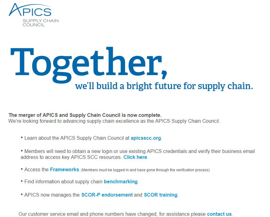 SCC is merged with APICS