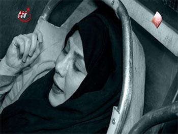 خوابیدن بهنوش بختیاری در آمبولانس بهشت زهرا