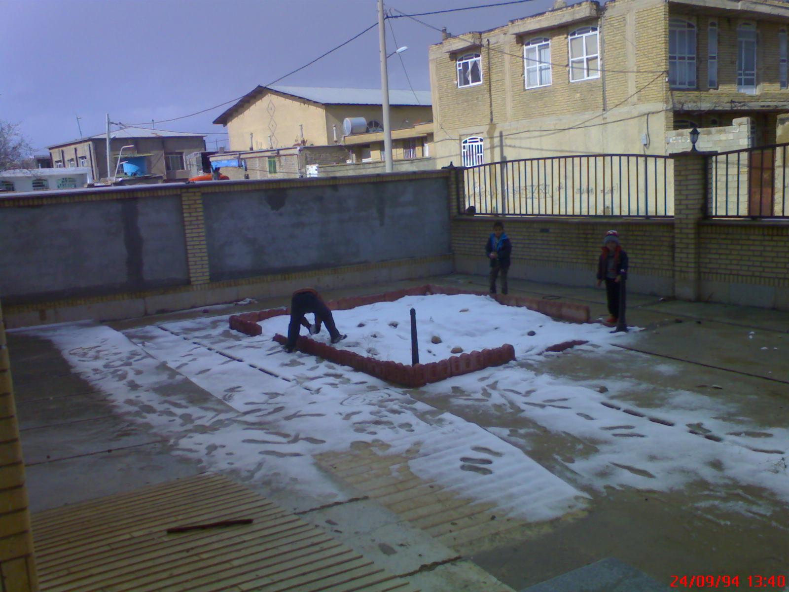 اولین برف زمستانی در شهر خانه زنیان