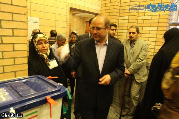 گزارش تصویری حضور دکتر قالیباف در مرحله دوم انتخابات مجلس نهم