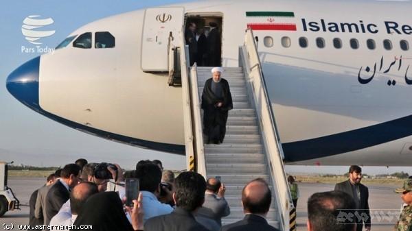 رئیس جمهور در فرودگاه سبزوار