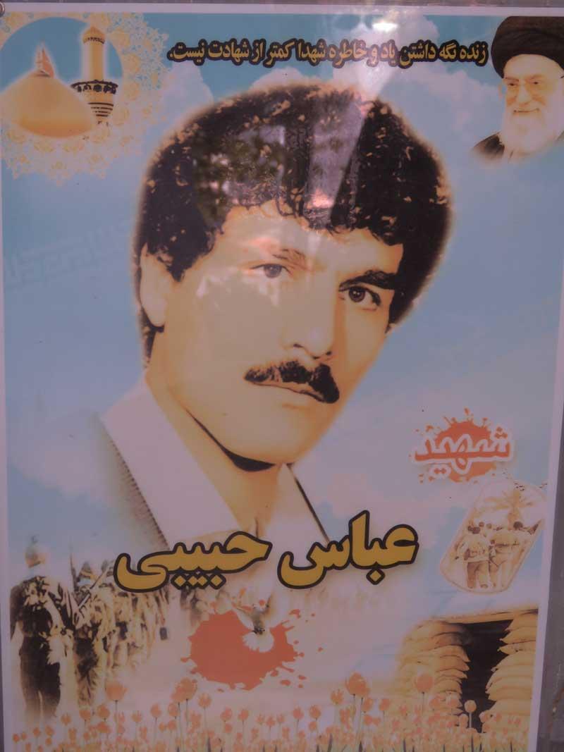 زیارت مزارشهید حبیبی-عباس