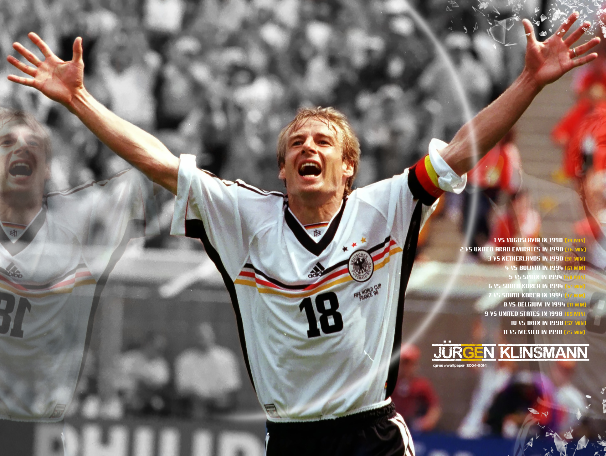 والپیپر یورگن کلینزمن بمب افکن آلمان در جام جهانی