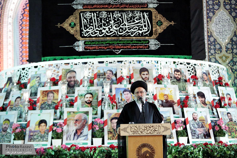 گزارش تصویری: مراسم گرامیداشت شهید حججی در صحن جامع حرم مطهر رضوی