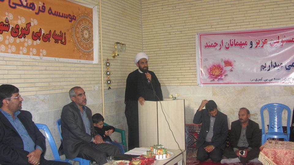 مراسم افتتاح موسسه فرهنگي قرآني و عترت زينبيه بي بي كبري شهرستان بافت