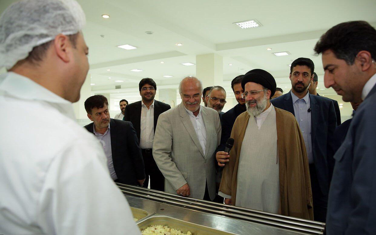 بازدید تولیت آستان قدس رضوی حجت الاسلام رئیسی از مهمانسرای حضرت رضا(ع)