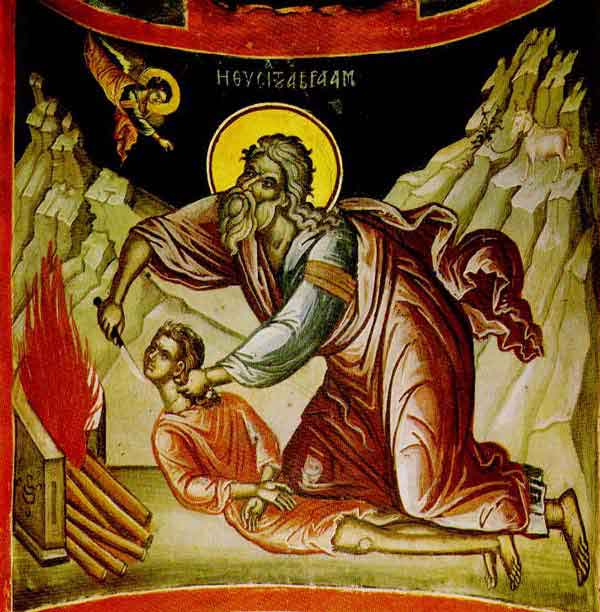 Abraham's Sacrifice- from the Diakonikon of the Katholikon of the Monastery of Stavroniketa