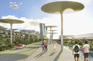 شهر جنگل هوشمند کنفان استفان بوئری Architetti از فضای سبز و فناوری استفاده می کند
