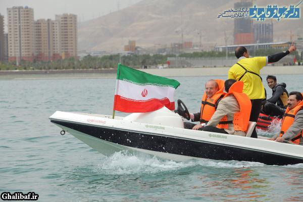 مراسم افتتاح فاز اول دریاچه شهدای خلیج فارس