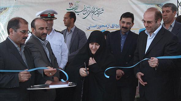 مراسم بهرهبرداری از محور اصلی بزرگراه شهید باکری