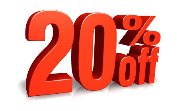 20 درصد تخفیف