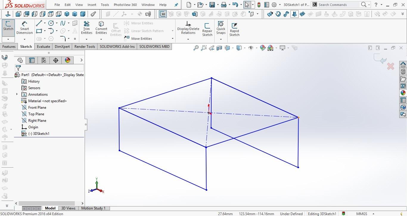 آموزش رسم اسکچ سه بعدی در سالیدورک
