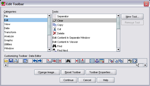 Edit Toolbar