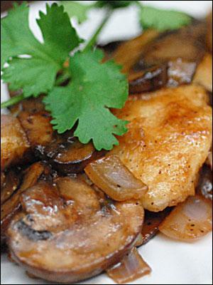 خوراک ماهی و قارچ
