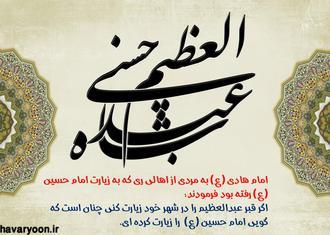 حضرت عبدالعظیم الحسنی(ع)