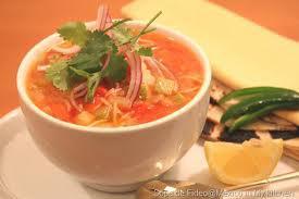 سوپ سبزی با ورمیشل