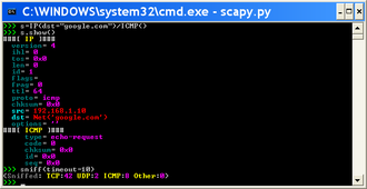 Scapy Window Screenshot