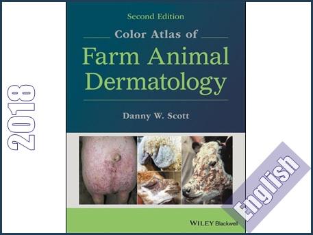اطلس رنگی درماتولوژی حیوانات اهلی  Color atlas of farm animal dermatology