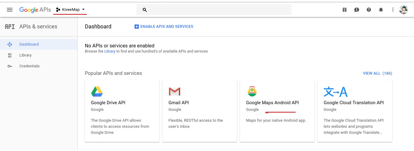 فعال سازی Maps API