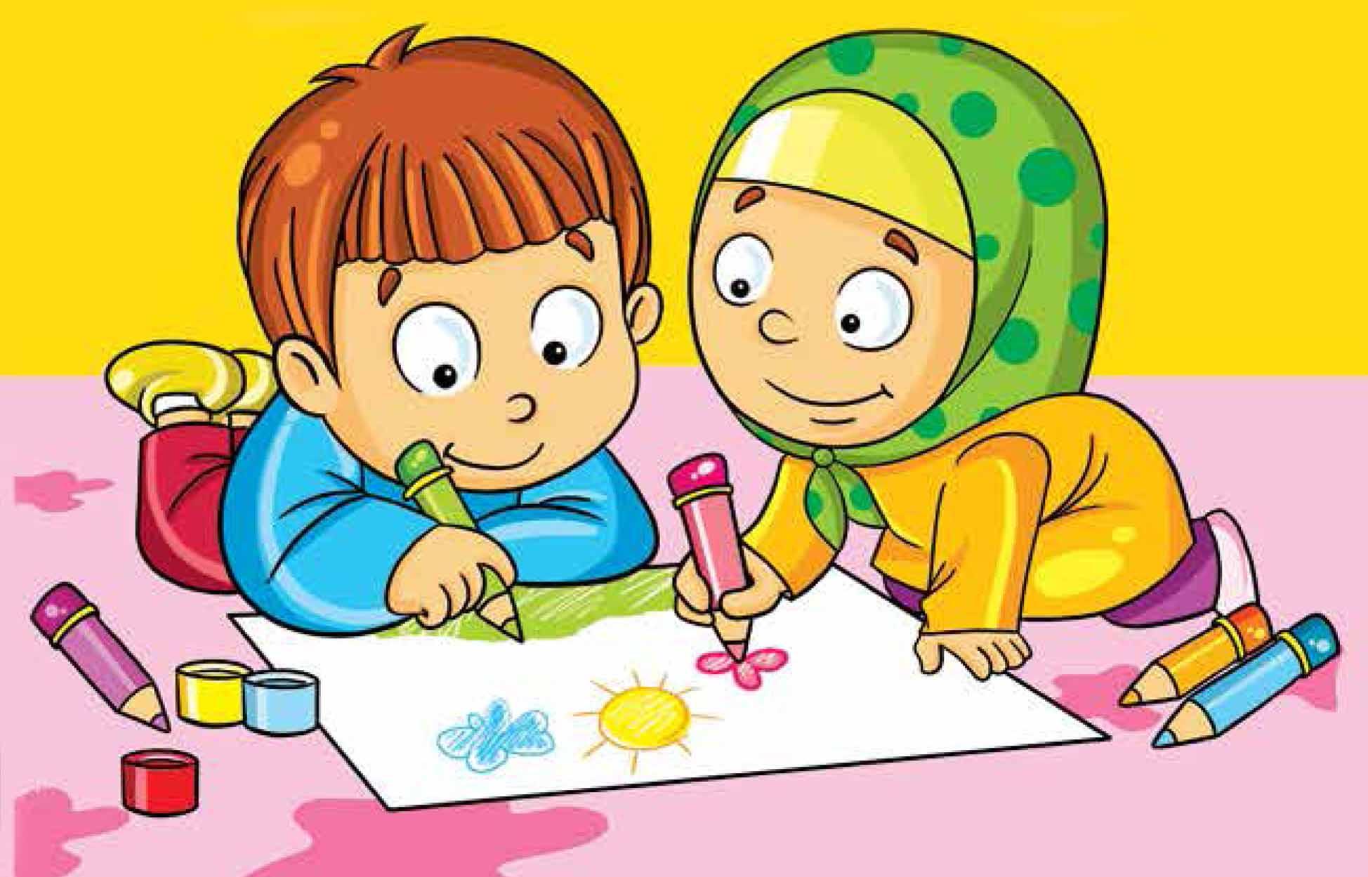 نتیجه تصویری برای مداد رنگی کودکانه