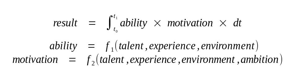 نتیجه، توانایی، انگیزه