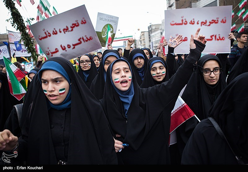 راهپیمایی یوم الله 22 بهمن - خیابان انقلاب