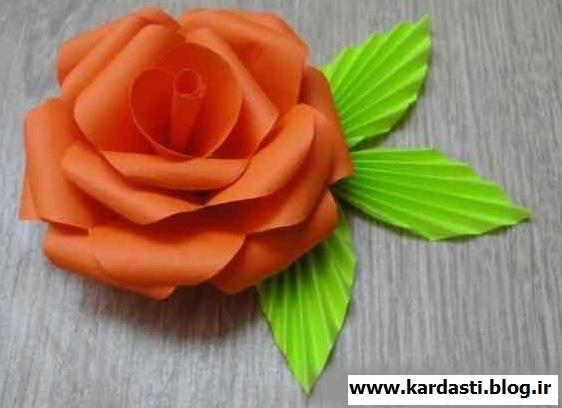 Большой цветок из бумаги своими руками из а4 1