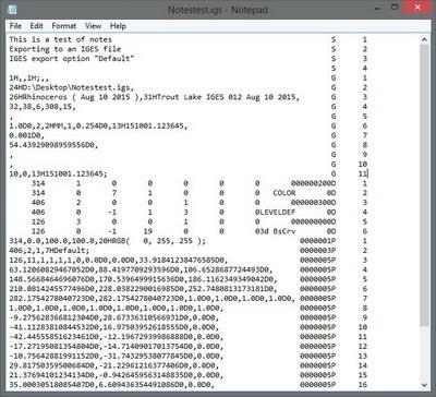 ماتریس اسکی برای فایل IGES