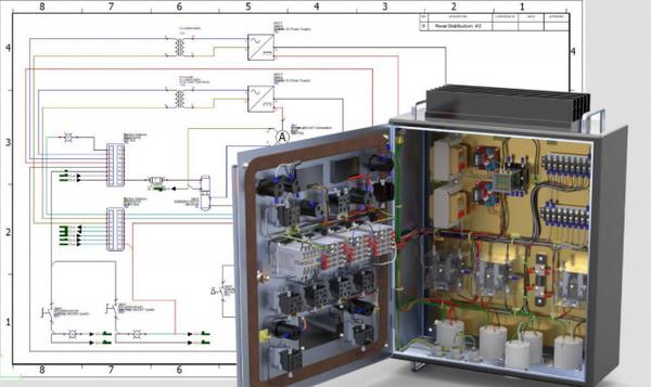 طراحی و مدلسازی سه بعدی مدار، تابلو برق و برد الکترونیکی در سالیدورکس