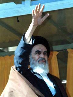 امام خمینی با دست راست