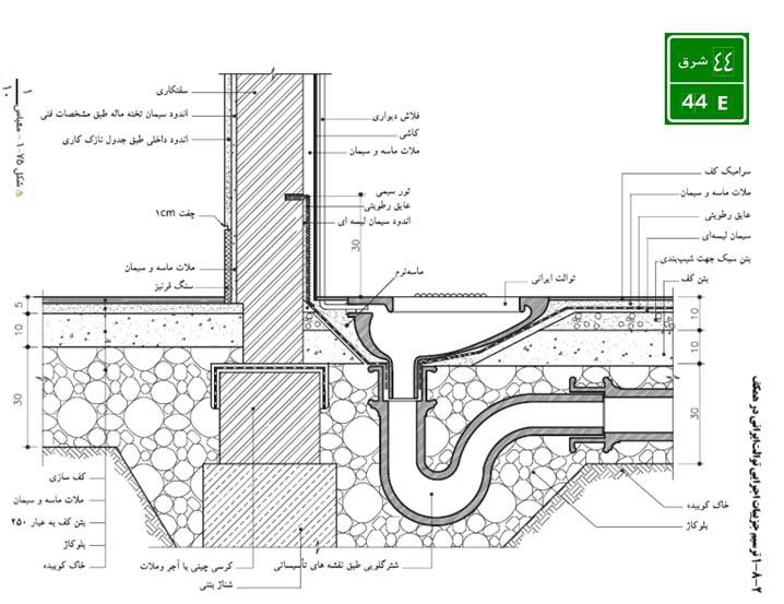 جزئیات ستگ اجرای سنگ توالت