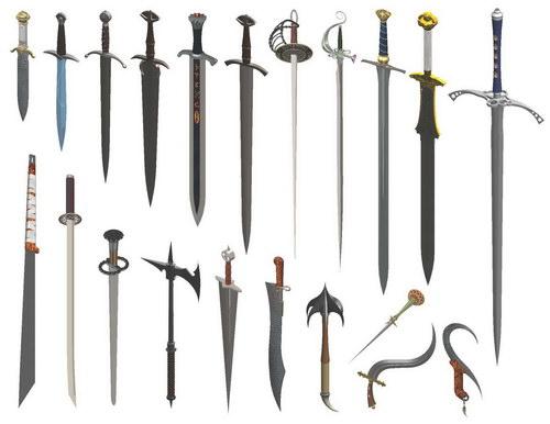 دانلود مدل آماده شمشیر سالید ورک