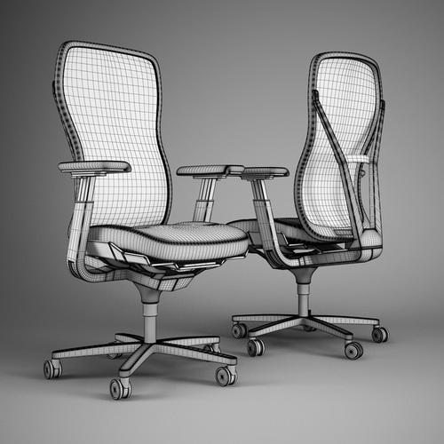 مدل سه بعدی صندلی اداری و طراحی صندلی