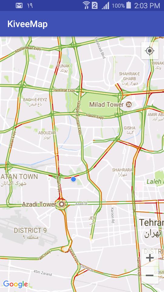 تنظیم نقشه Google Map