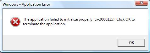 بر طرف کردن ارور The application failed to initialize properly (0xc0000135) err