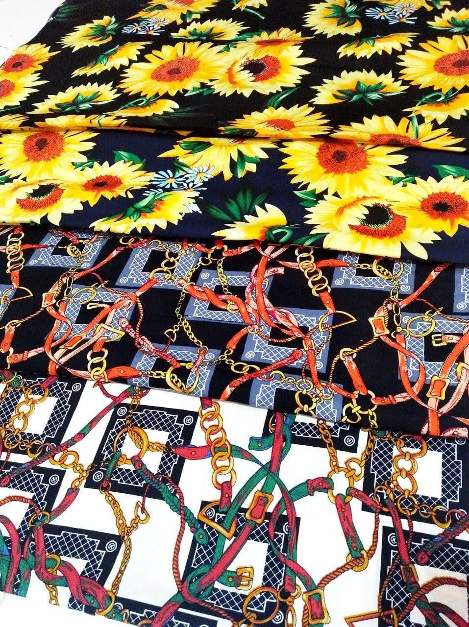 پارچه نخی گلدار و زنجیری