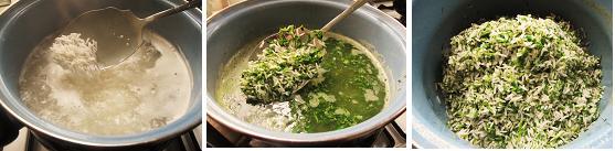 سبزی پلو با ماهی قزل آلا