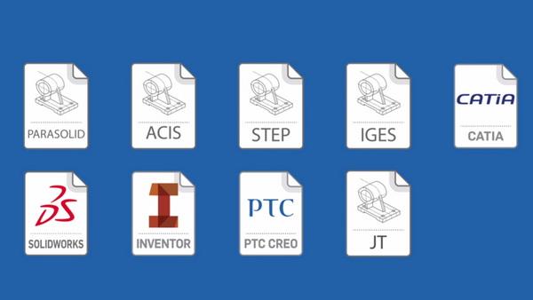 فرمت ها و پسوند های خروجی نرم افزارهای طراحی مهندسی مکانیک، Catia، Solidworks