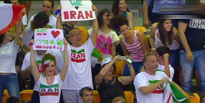 سارا شیرازی, هواداران بازی والیبال ایران و ایتالیا, والیبال ایران و ایتالیا