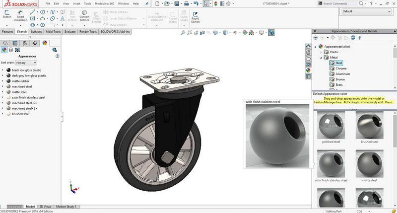 آموزش Solidworks rendering -3