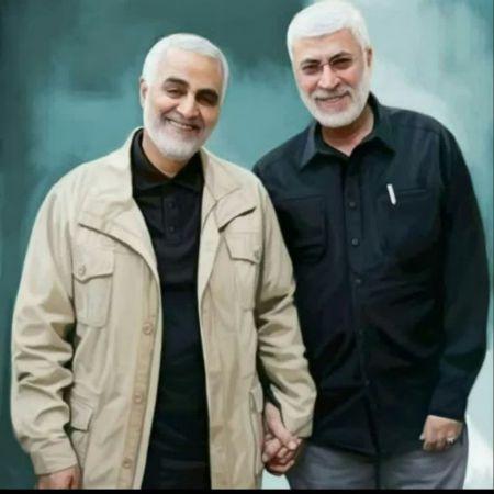 عکسی از سردار سلیمانی و ابو مهندس