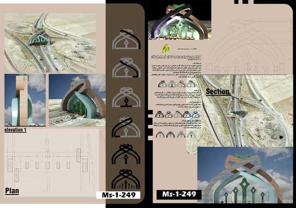 ارائه طرح سردر ورودی مشهد مقدس با رویکرد آرمانشهر رضوی و قرآنی