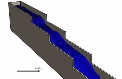 مدلسازی حرکت آب داخل یک کانال