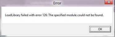 مشکل و راه حل رفع خطای loadlibrary failed with error 126 :: نرم